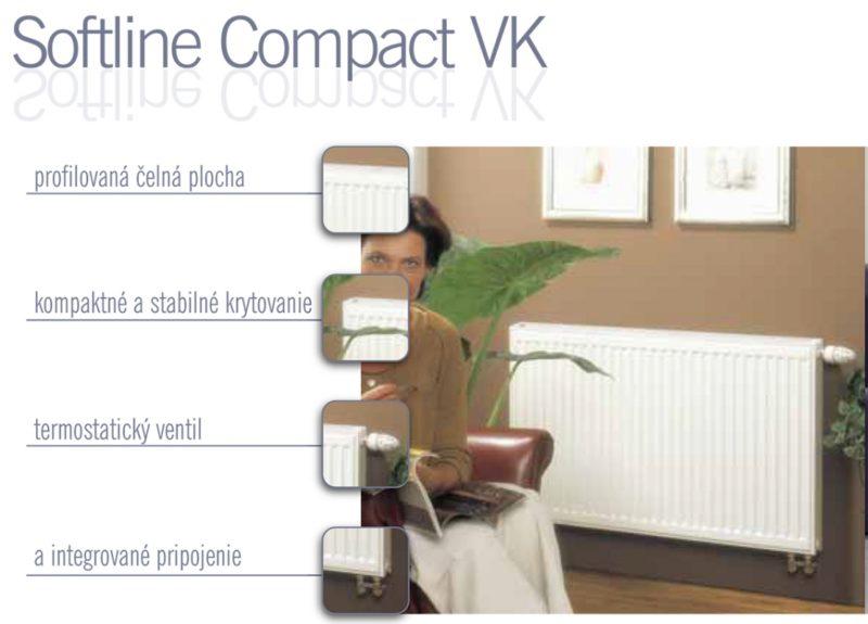 Panelový radiátor STELRAD 11VK 500 x 600 Softline Compact VK, SSC11VK500x600