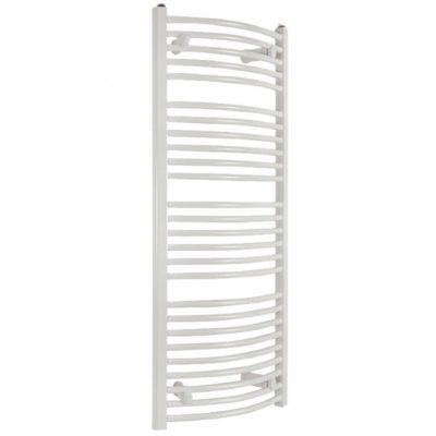 Kúpeľňový radiátor SOLID 600 x 940 mm, biely, oblý, rebríkový radiátor, 600x940 curved