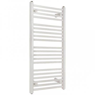 Kúpeľňový radiátor SOLID rebrík 750 x 1340 mm, biely, rovný, rebríkový radiátor, 750x1340 flat