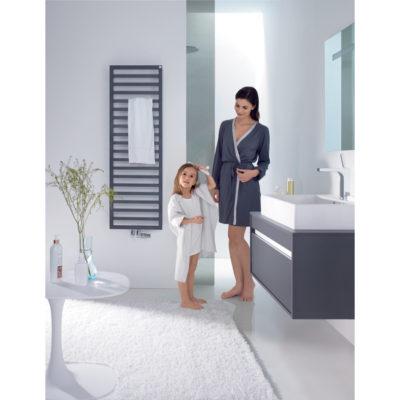 Kúpeľňový radiátor ZEHNDER, QUARO 971x450 ČIERNA,  QA100-045M0550