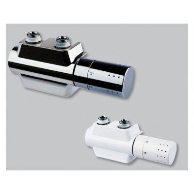 Pripojovacie šrúbenie s integrovaným termostatickým ventilom Variodesign,biele