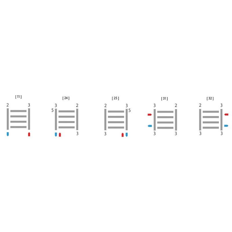 Dizajnový radiátor ALTUS AHH2, 300 x 1800, 844W