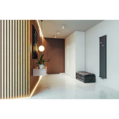 Dizajnový, vertikal radiátor GERONA AG, 1800 x 400, 730W
