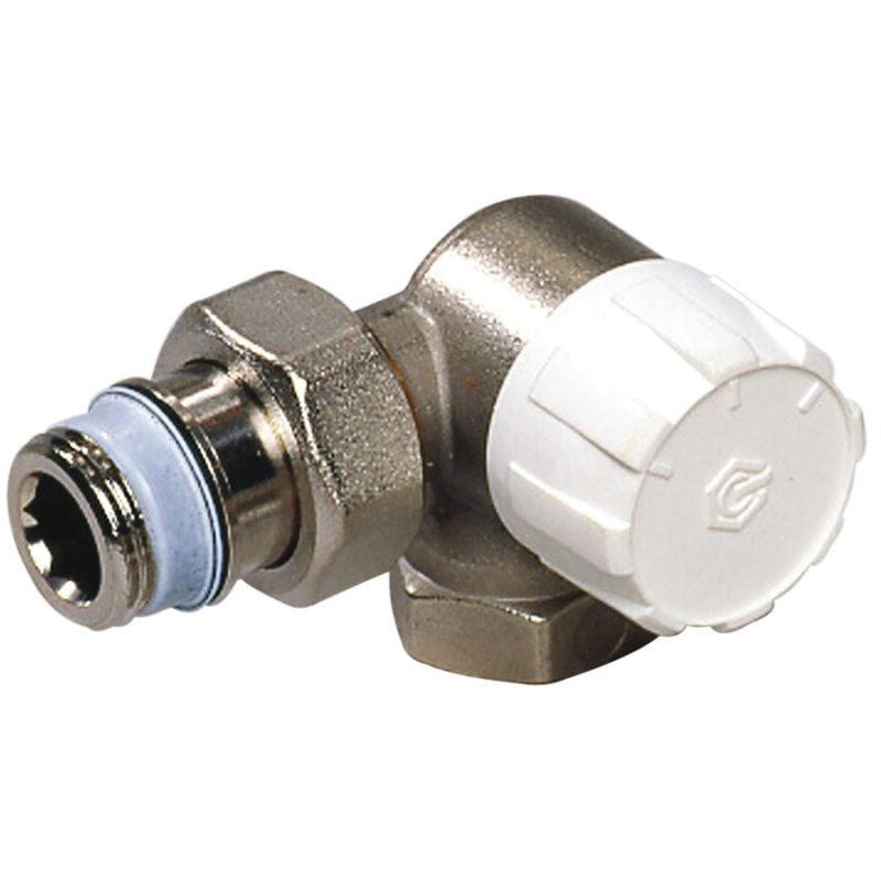 Termostatický ventil rohový, pravý DN15