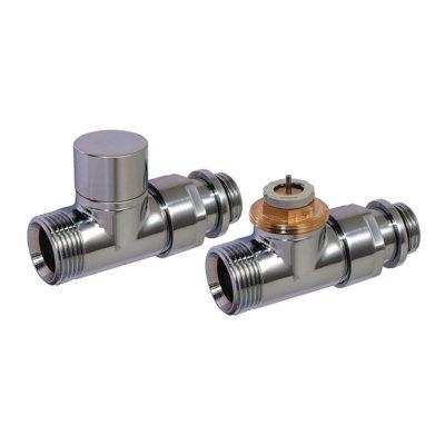 Set- priamy ventil a regulačné šrúbenie,nerez D3805-N