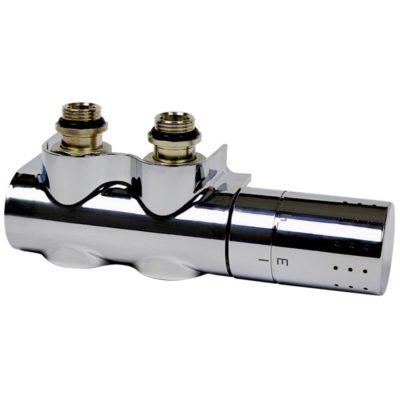Termostatický ventil FLEXO-C Set pre stredové pripojenie 1/2-3/4 chróm, L234007001